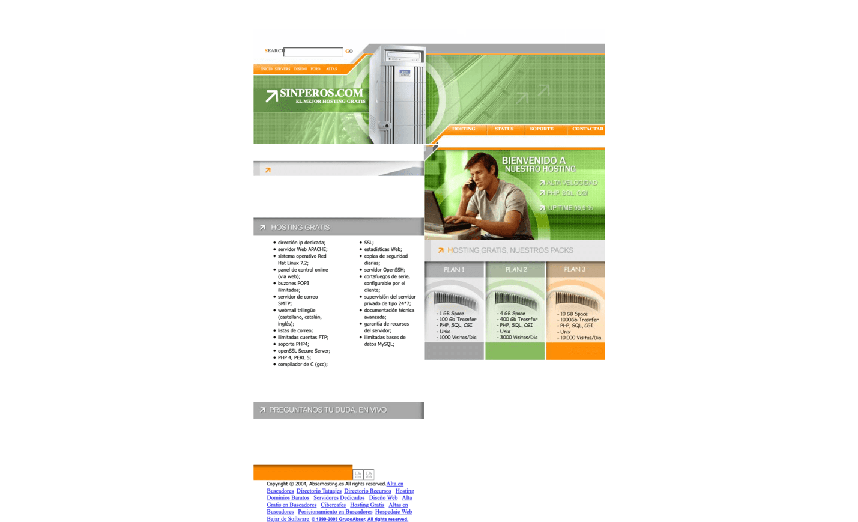 Screenshot_2019-11-25 SinPeros com - Hospedaje, Hosting, Espacio, Web, Gratis